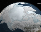 AMSR-E Arctic Sea Ice: September 2009 to March 2010