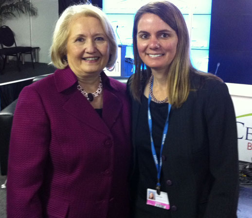 Erika Podest with Melane Verveer, the U.S. Ambassador-at-Large for Global Women's Issues.