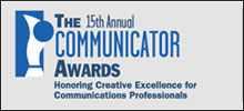 'Award of Distinction' 2009 Communicator Award May 25, 2009