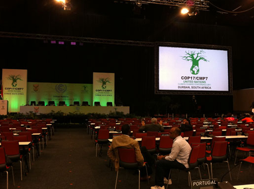 The negotiation halls, where it all happens. Talks are now over at the COP17 United Nations climate conference in Durban, South Africa.