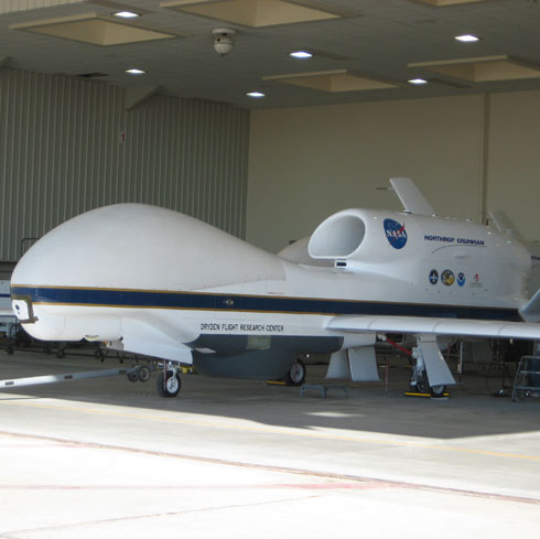 NASA's unmanned plane, the Global Hawk.