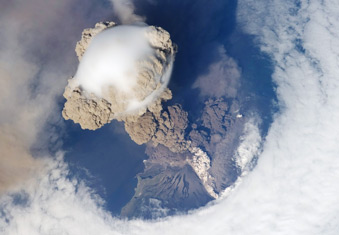 Sarychev Peak Eruption, Kuril Islands, June 2009