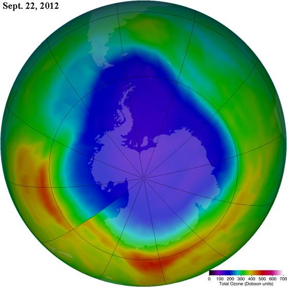 антарктическая озоновая дыра