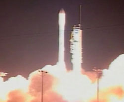 Launch of OSTM/Jason 2, as seen on NASA TV.