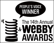 May 2010: Webby 'People's Voice' Award - Best Science Site
