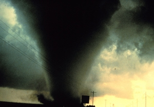 The Dimmitt Tornado, captured on film south of Dimmitt, Texas on June 2, 1995. Credit: NOAA Photo Library, OAR/ERL/NSSL.