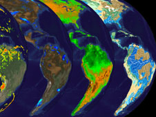 NASA satellite data helps to track water resources worldwide and the impact of either too much or too little water on food security and natural disasters like floods. Credit: NASA Goddard Space Flight Center.