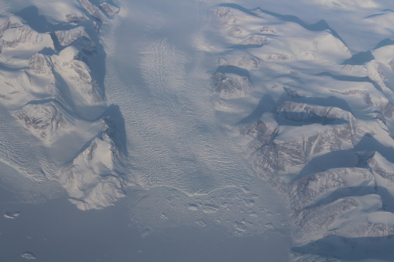 NASA's OMG is monitoring the speed of glaciers around Greenland's coastline. Credit: NASA/JPL