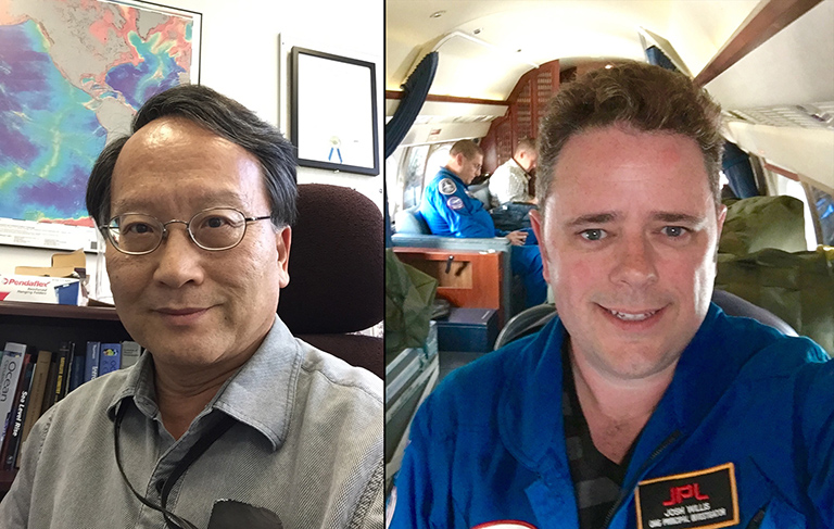 Lee Fu and Josh Willis, project scientists