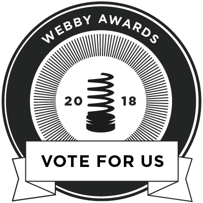Webby Awards: Vote for us!