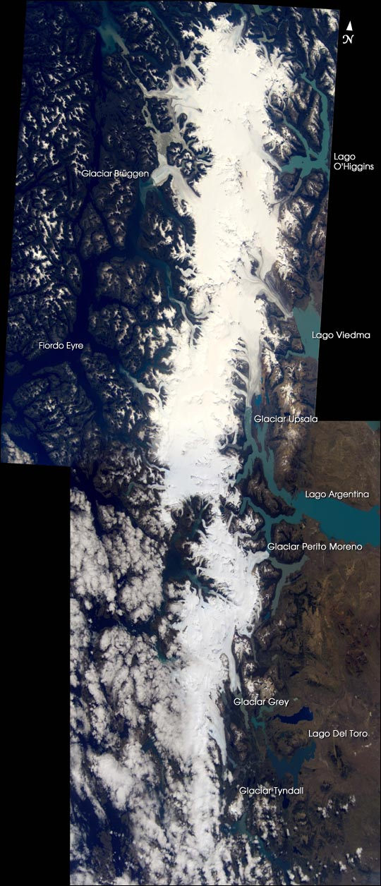 Mosaic of the Southern Patagonian Icefield