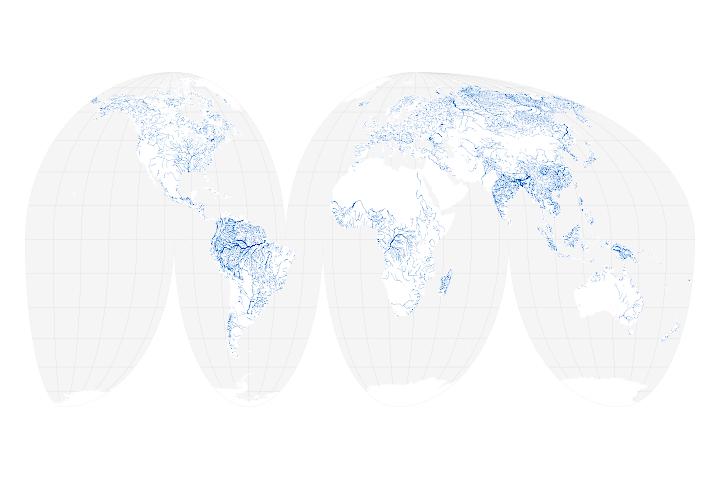 Global river width
