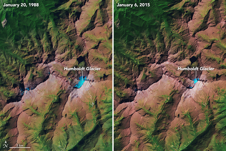 Humboldt Glacier from January 20, 1988, to January 6, 2015
