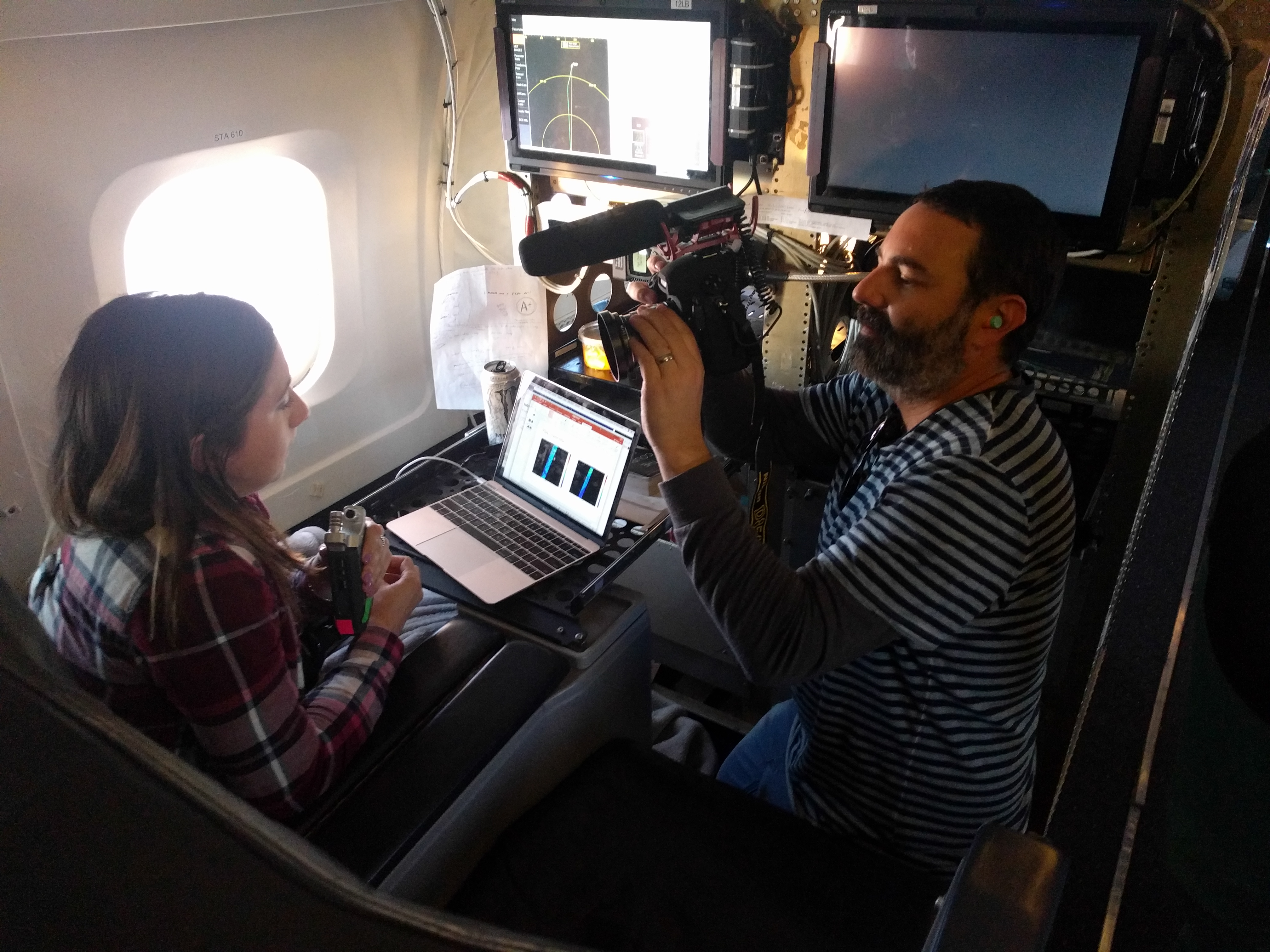 IceBridge Deputy Project Scientist Linette Boisvert is interviewed, explaining how the crew chases sea ice in flight.