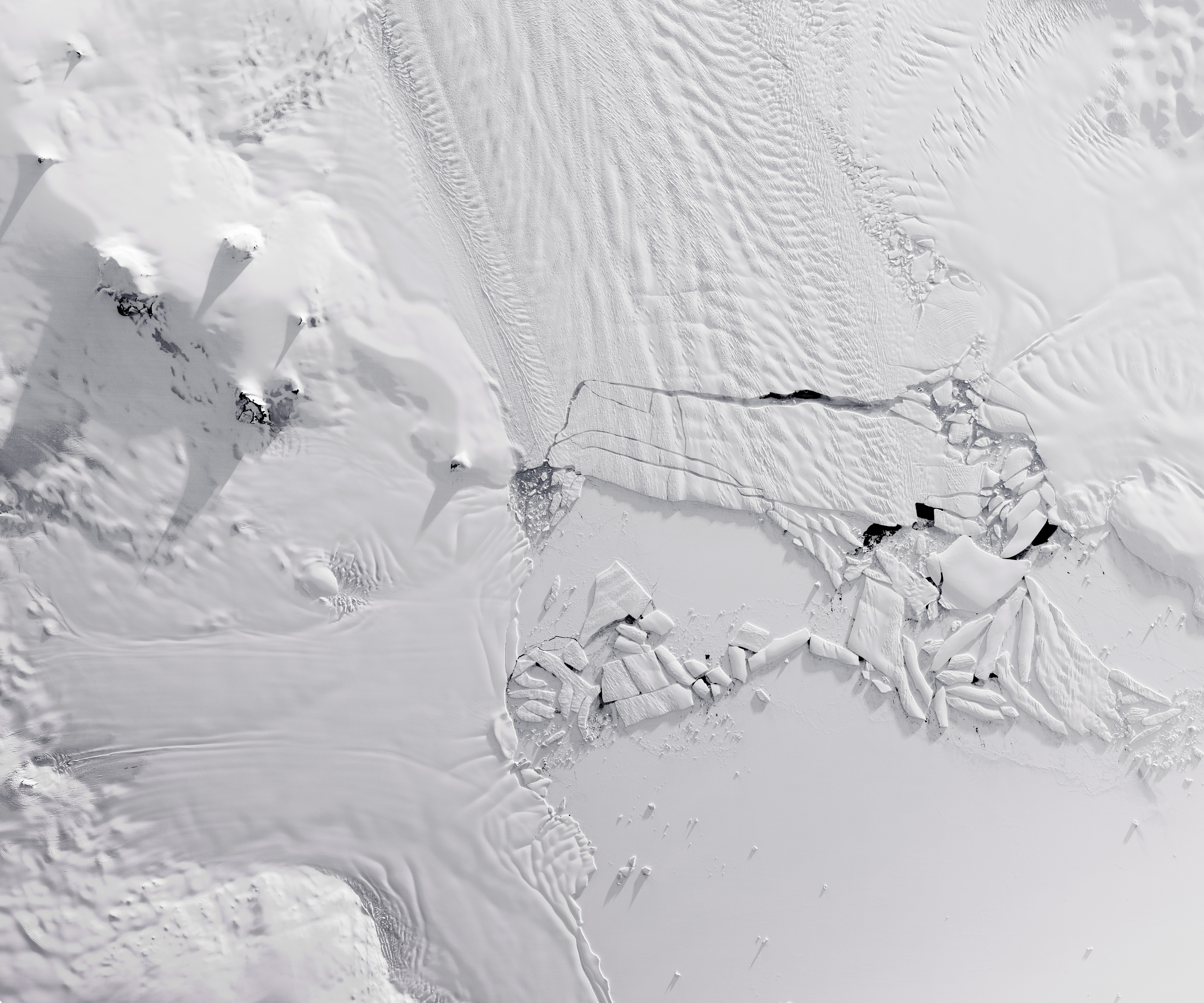 Pine Island Glacier after calving iceberg