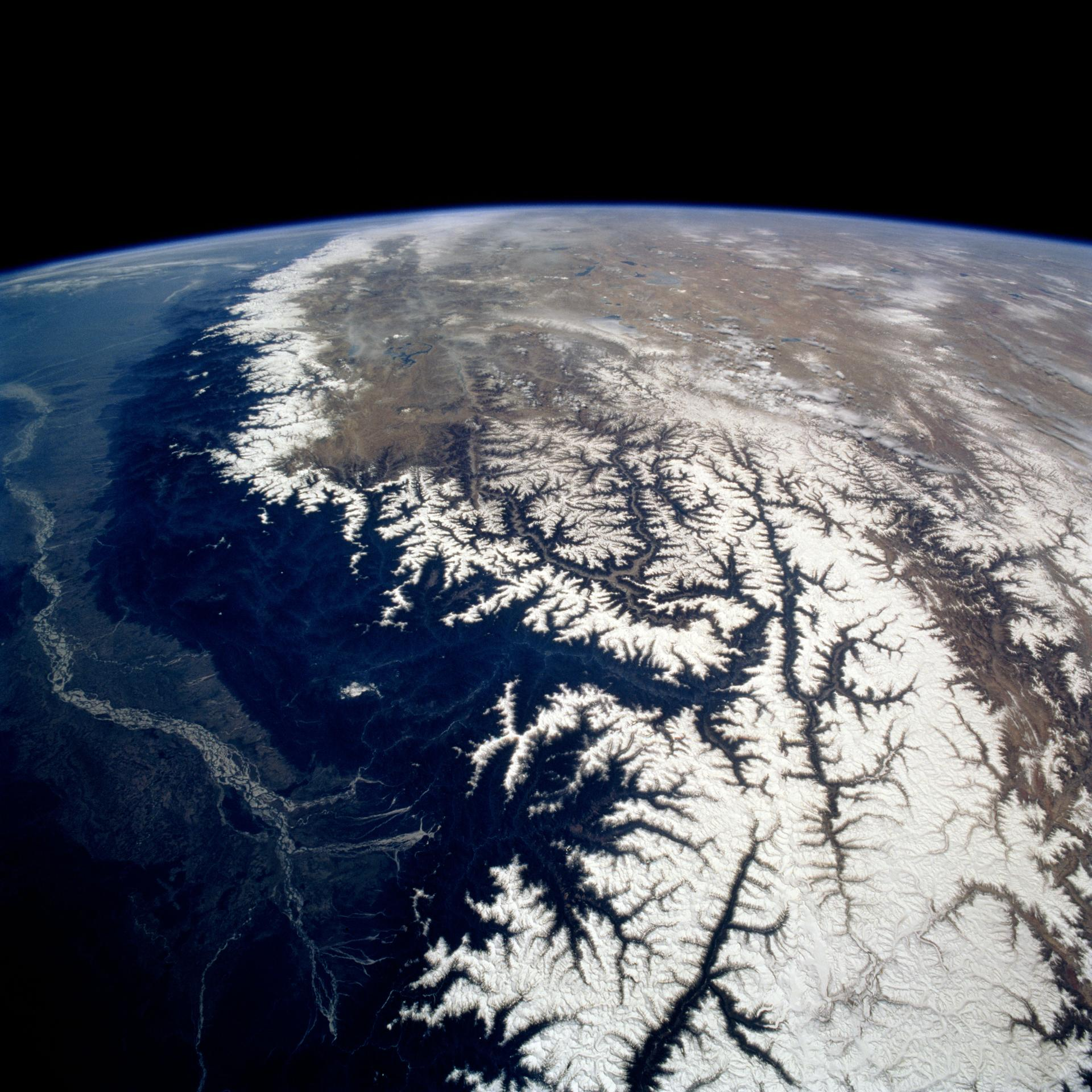 View southwestward across the Kamchatka Peninsula.