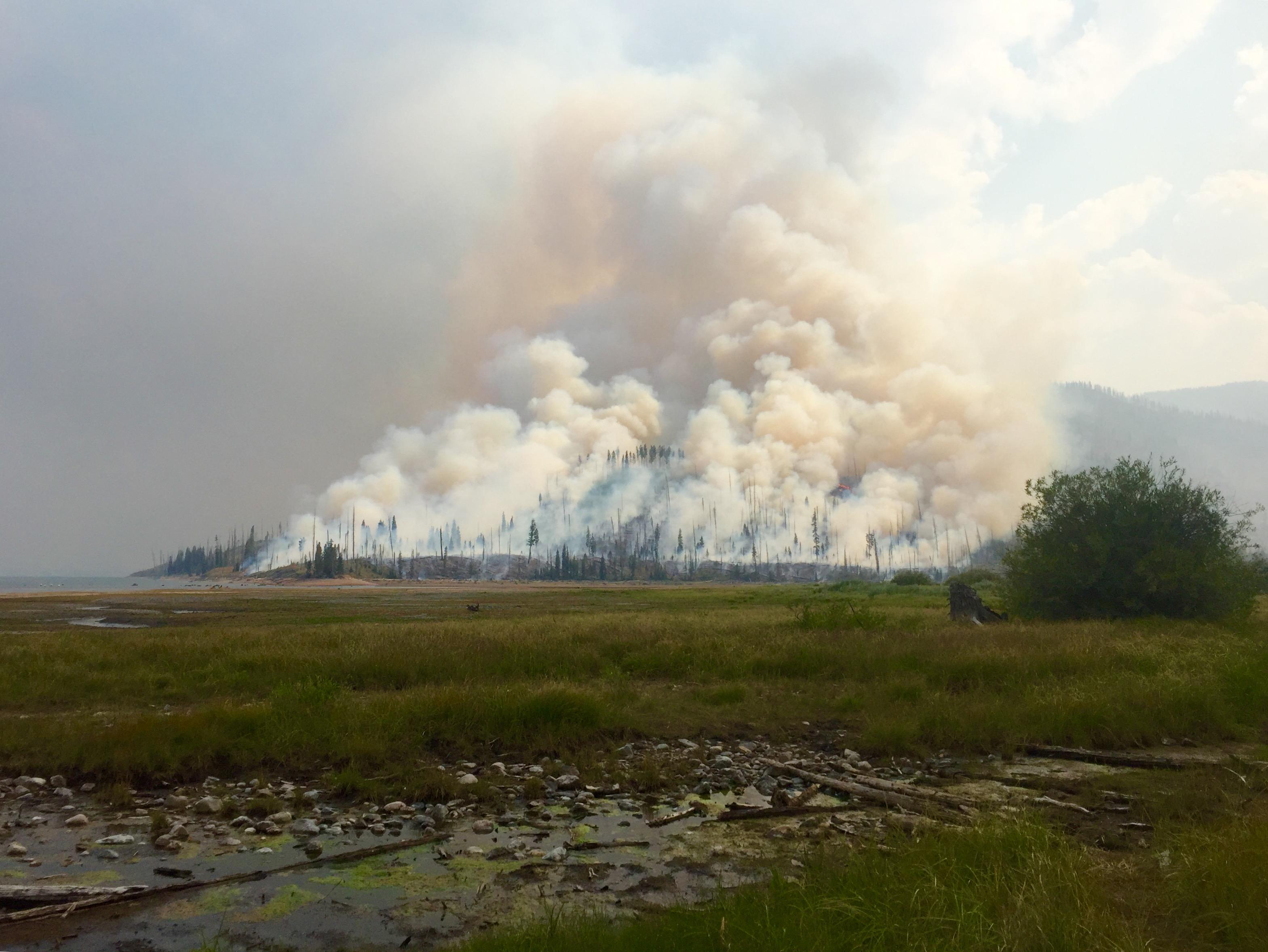 Berry Fire, Grand Teton National Park