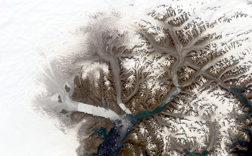Landsat Illustrates Five Decades of Change to Greenland Glaciers 2