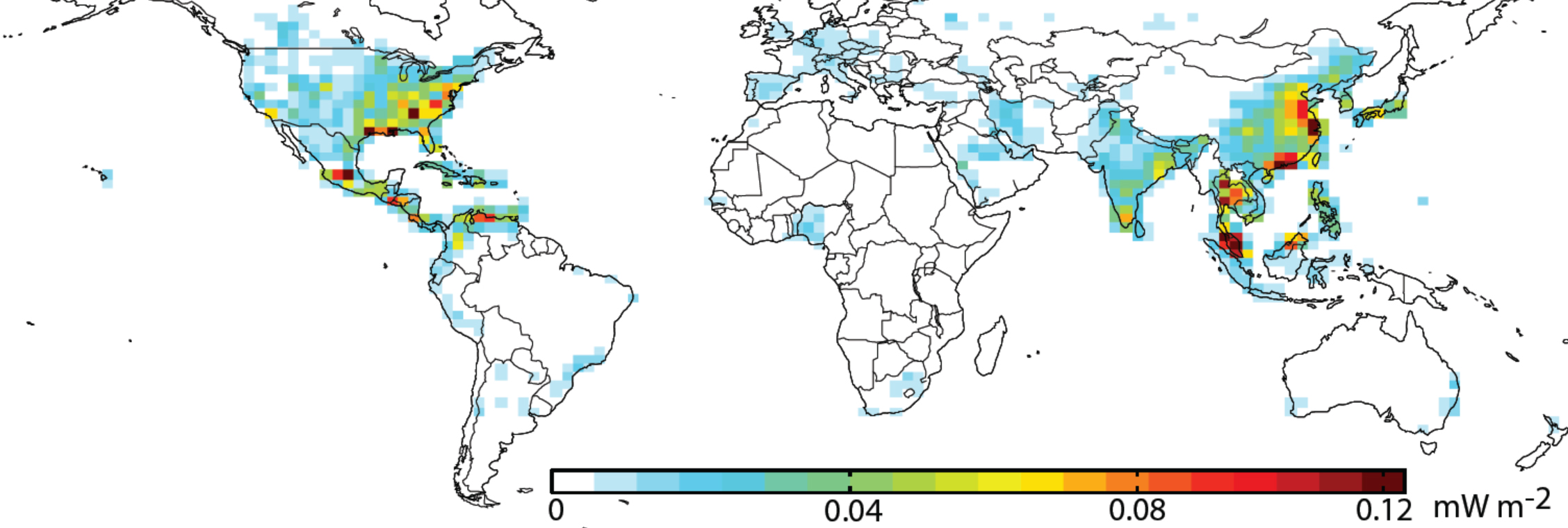 Contributions of nitrogen dioxide emissions - the primary source of ozone - to the global average thermal absorption of ozone