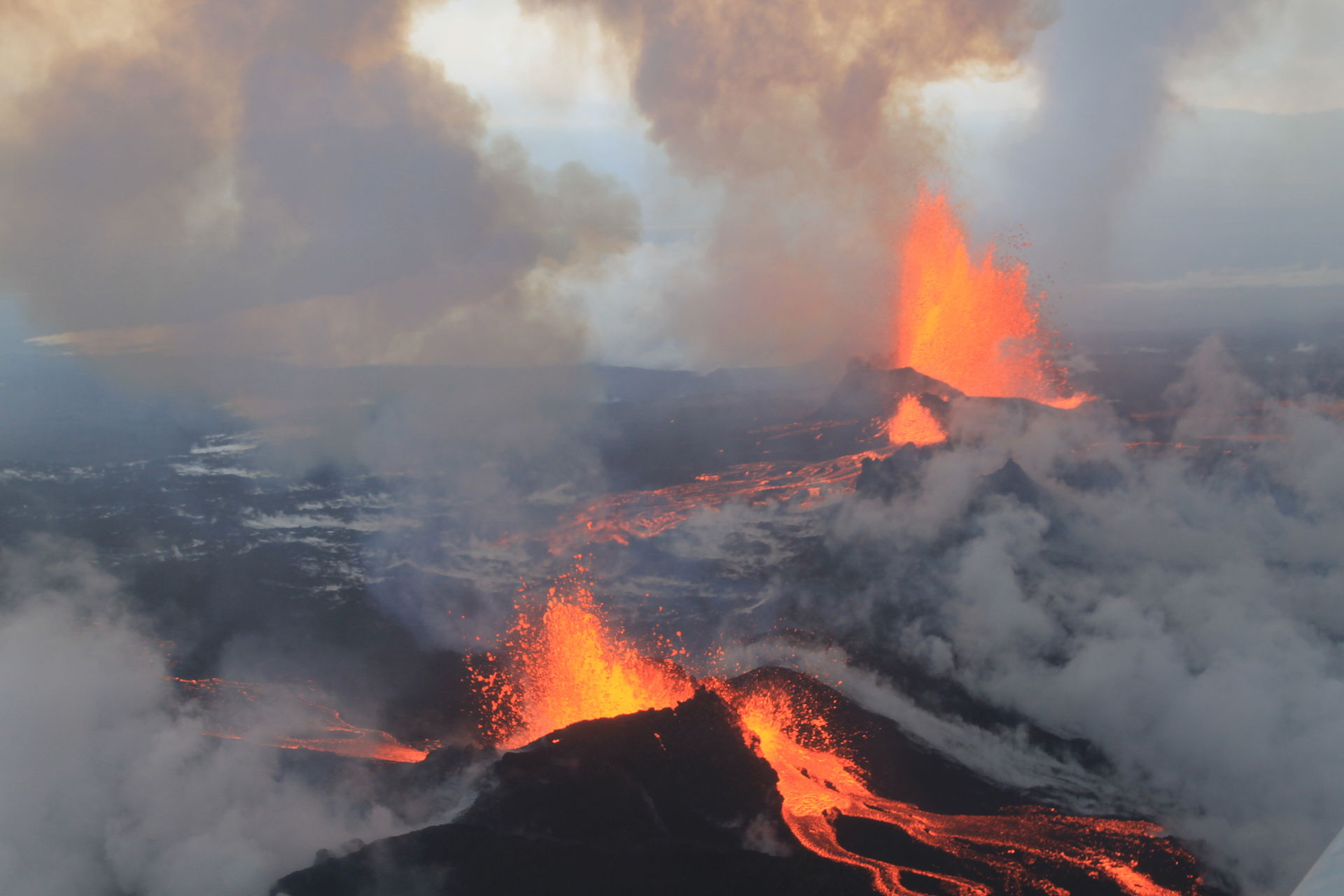 Eruption at Iceland's Holuhraun lava field