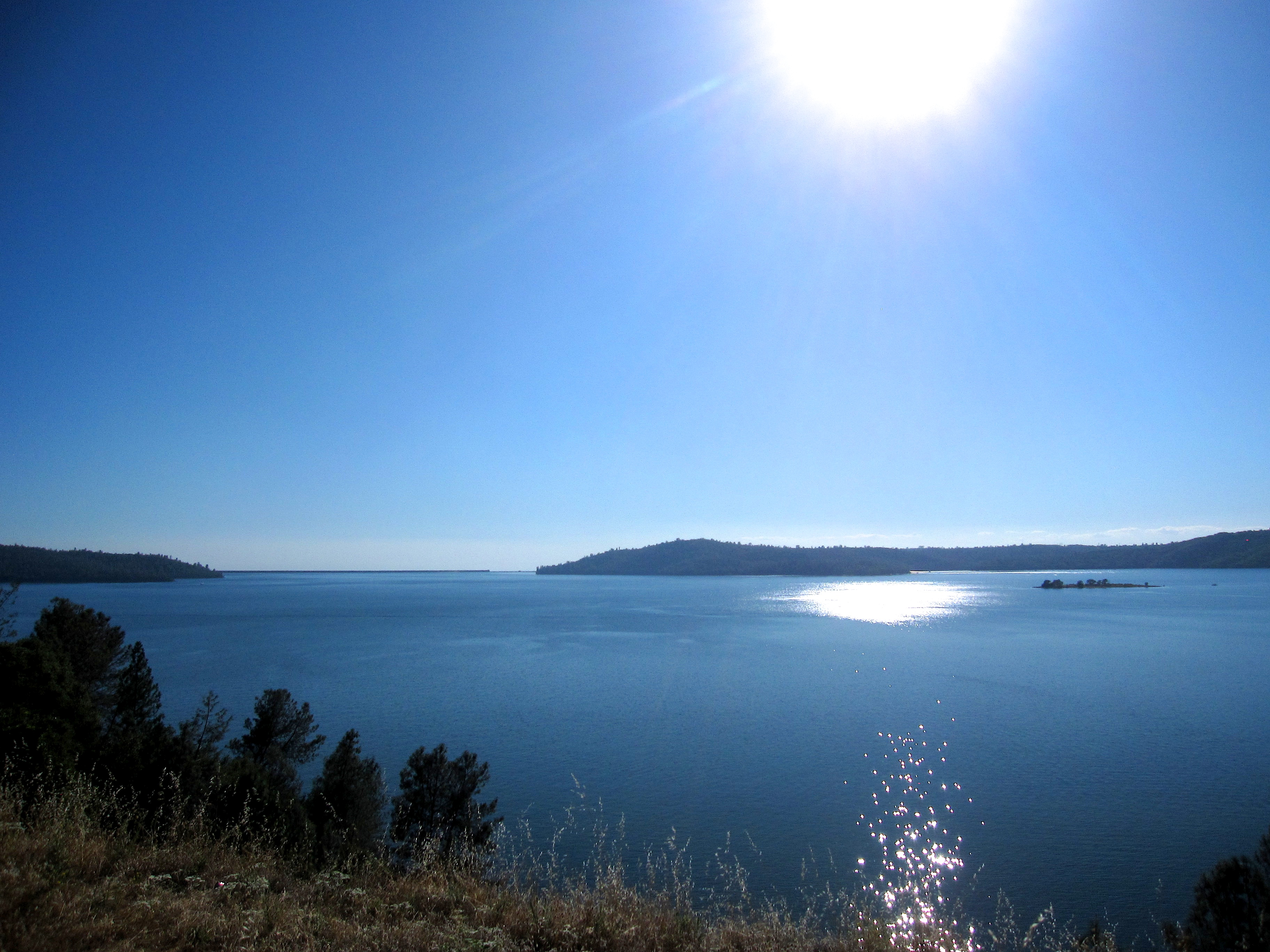 Lake Oroville in California
