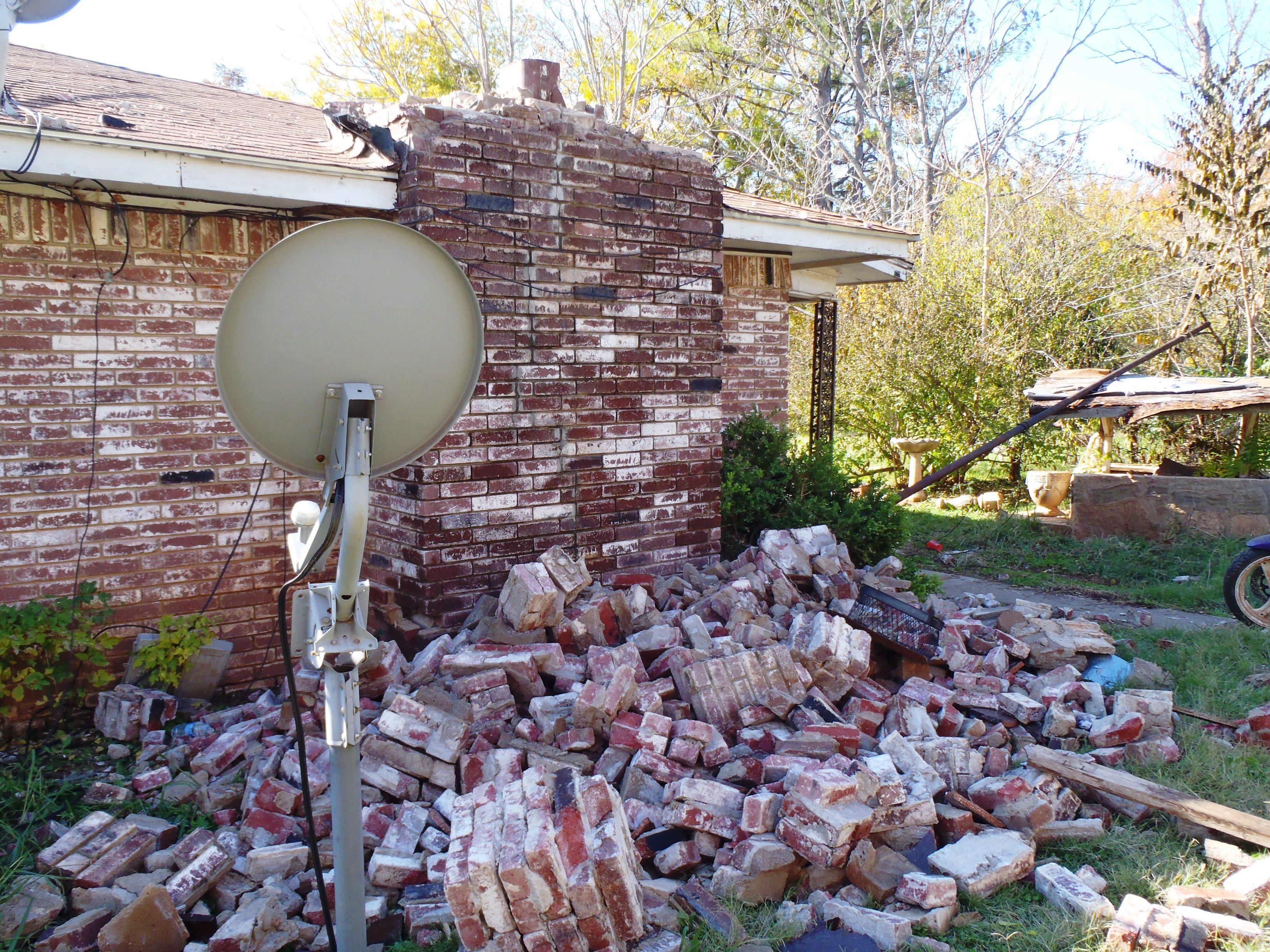 House damage in central Oklahoma