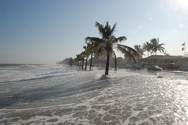 high-tide flooding in Fort Lauderdale, Florida