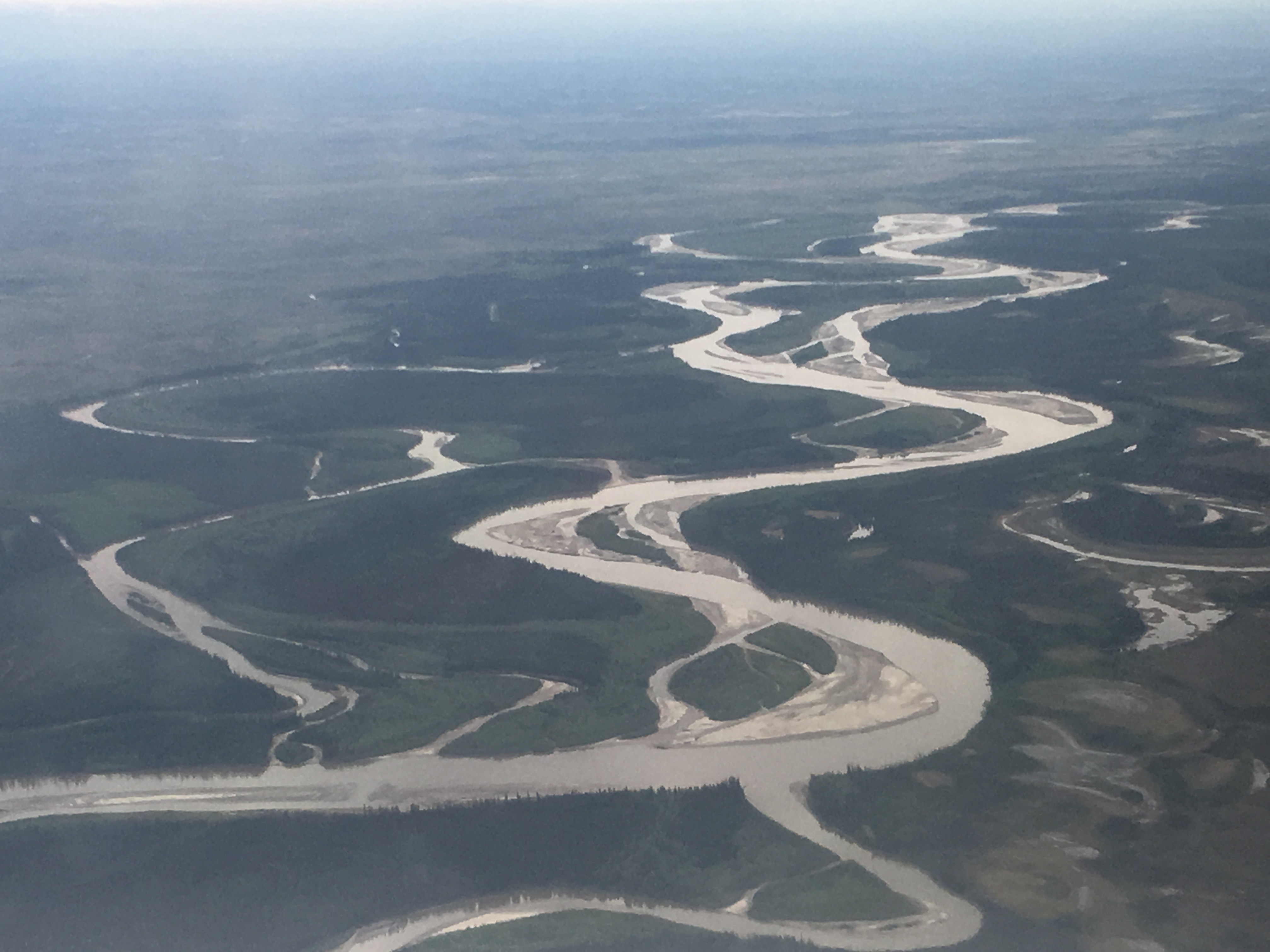 Alaska's Tanana River as seen from one of the ABoVE campaign's NASA planes