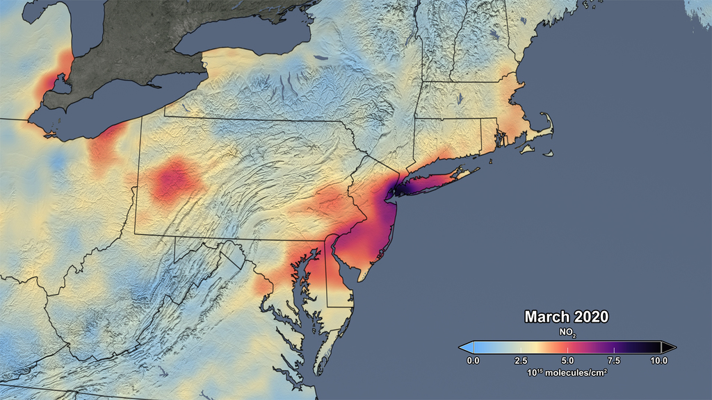 Reduced air pollution over the US Northeast