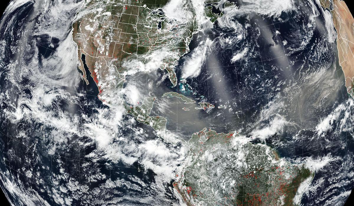true color composite image of dust storm
