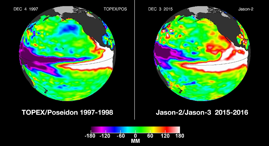 The El Niño of 2015-2016 was the biggest, so far, of the 21st century.