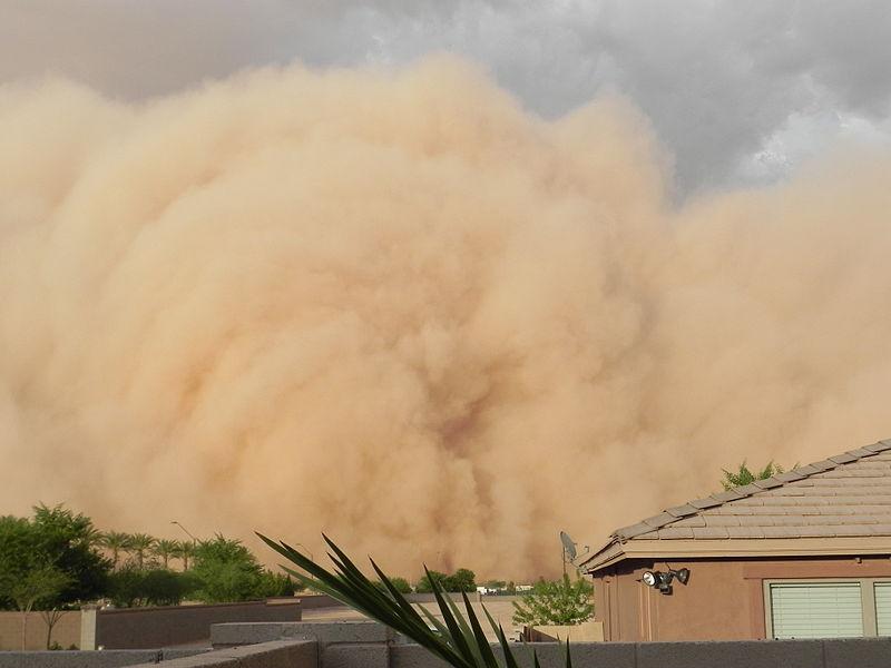 A sandstorm envelopes Casa Grande, Arizona, July 5, 2011.