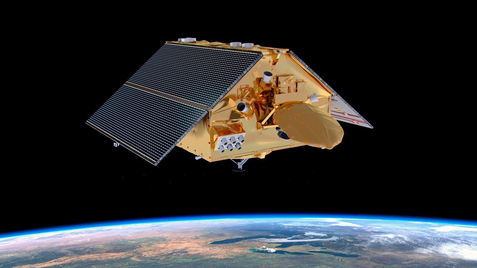 Artist depiction of Sentinel satellite