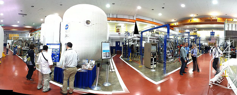 NASA Langley Research Center's Structures and Materials Laboratory, home of the space-pod living quarters. Credit: NASA.