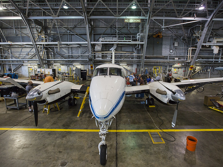 The Atmospheric Carbon and Transport–America, or ACT-America, campaign will observe greenhouse gas transport with instruments on two NASA aircraft including the King Air B-200 from NASA's Langley Research Center in Hampton, Virginia.