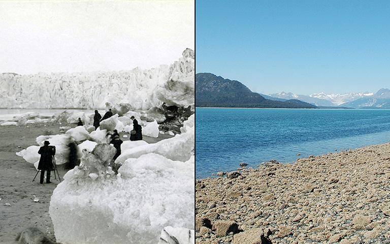 Muir Glacier, Alaska, disappears.