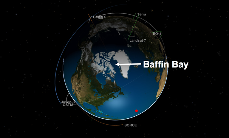 Baffin Bay in Eyes on the Earth