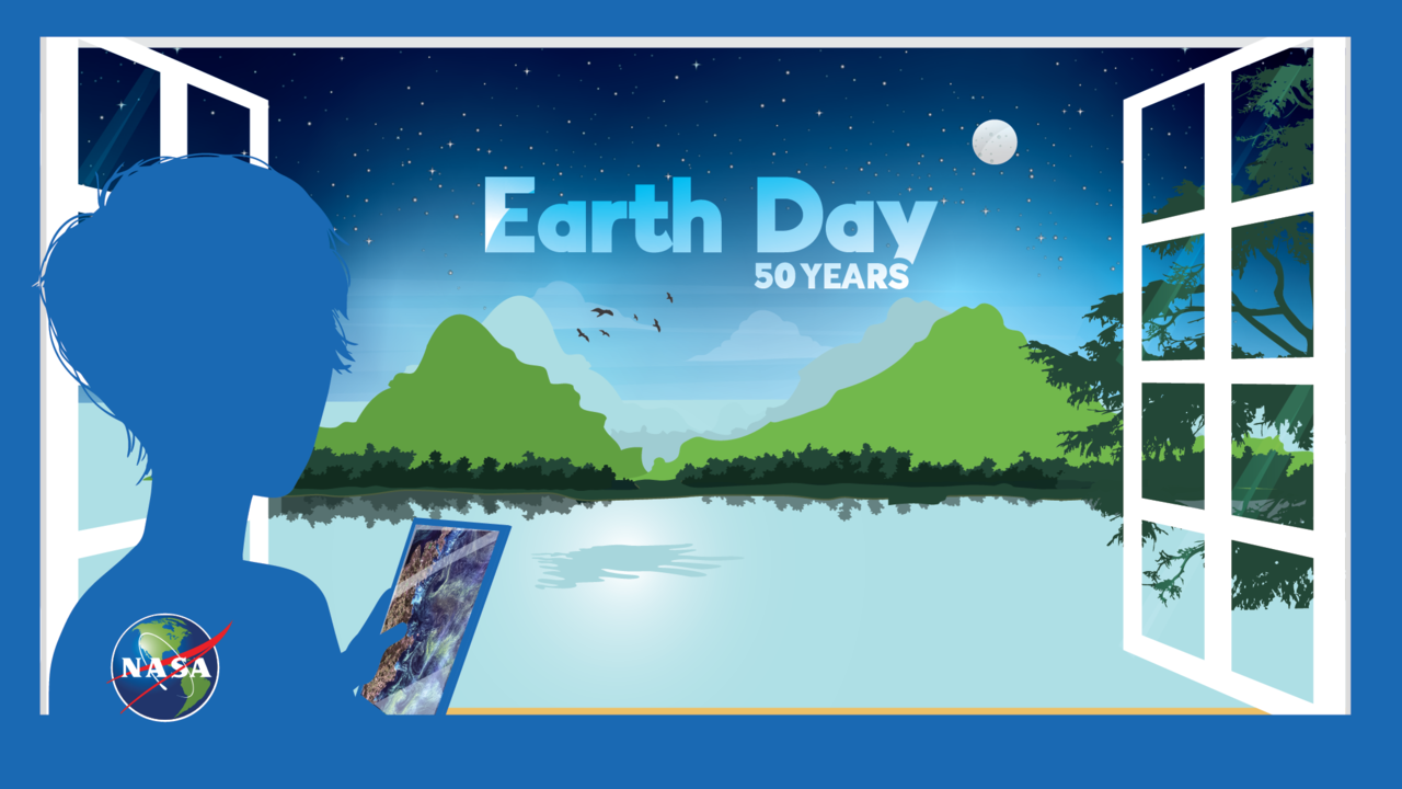 Earth Day at Home Illustration
