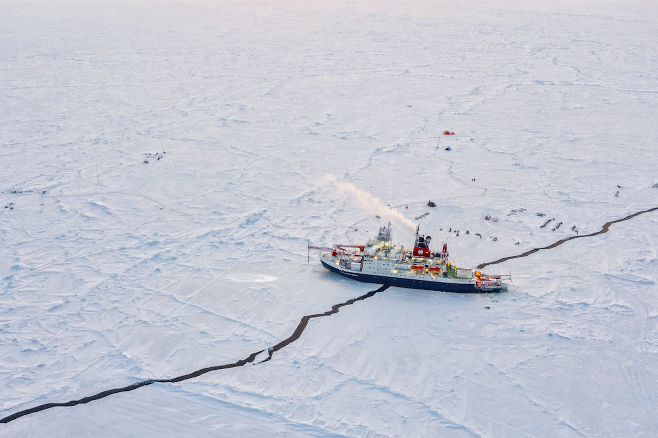 Ice Cutter Ship in Arctic