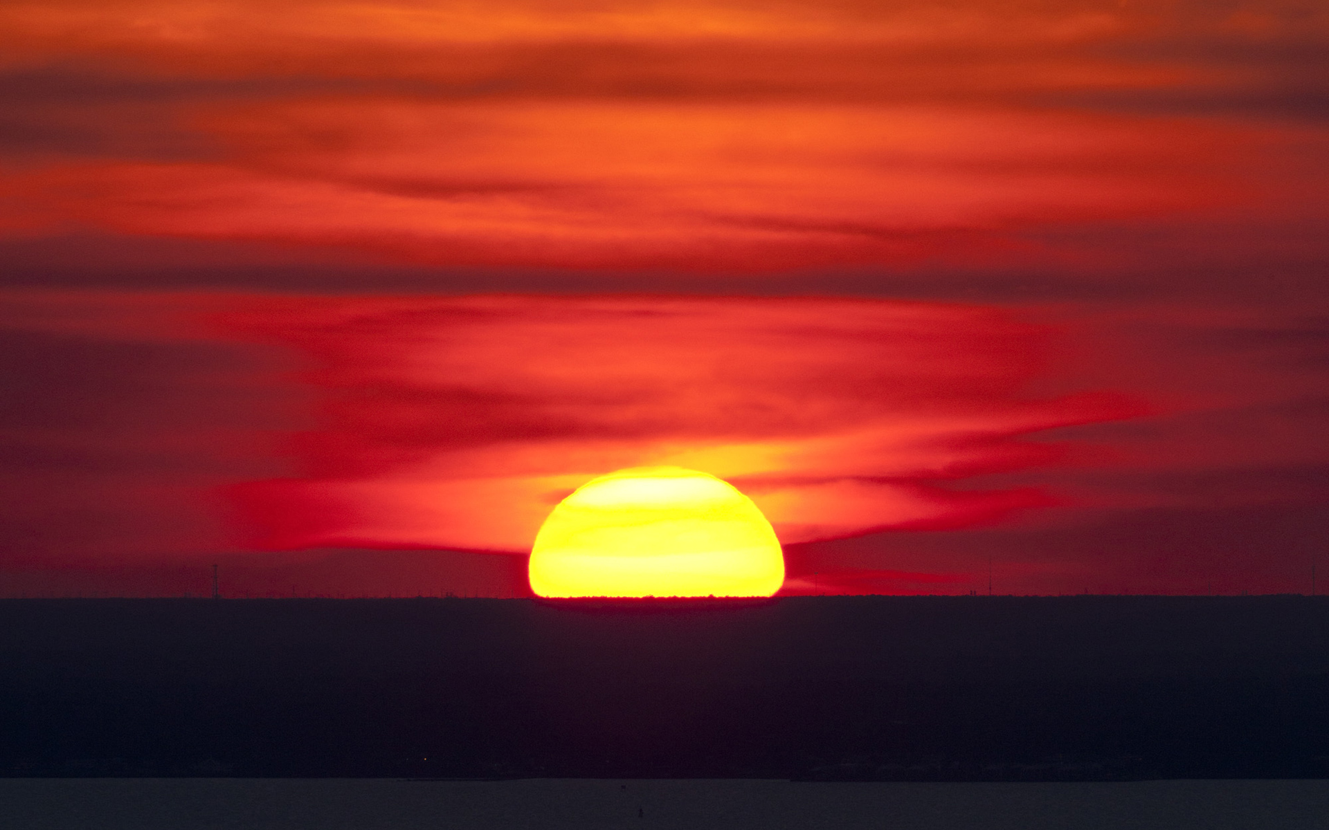 Vivid Sunset Climate Change Vital Signs Of The Planet