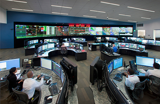 Control room at California Independent System Operator