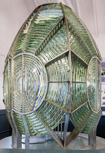 The Fresnel lenses that serve lighthouses consist of concentric rings, each of which refracts light as the corresponding part of a regular lens would do.