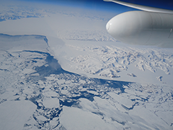 NASA's Multiple Altimeter Beam Experimental Lidar flew over Southwest Greenland's glaciers and sea ice to test a new method of measuring the height of Earth from space. Image Credit: NASA/Tim Williams