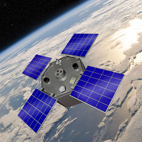 Artist's rendering of the AcrimSat spacecraft. Credit: NASA