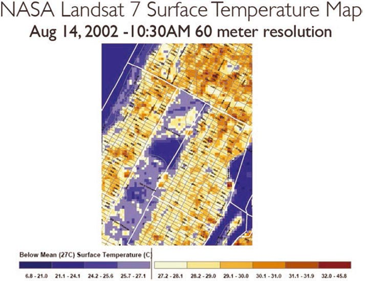 NASA Landsat Temperature Map