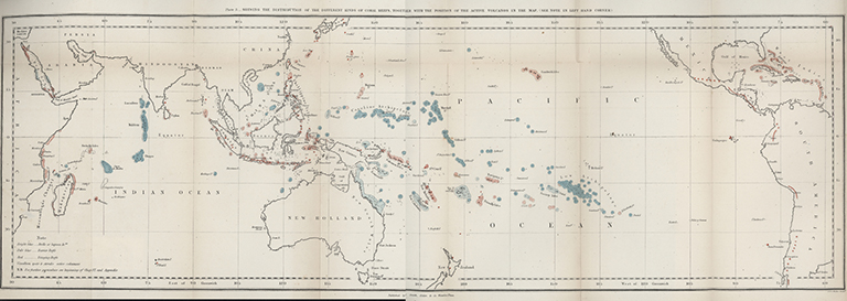 Coral reefs map