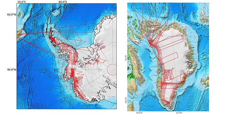 Operation IceBridge planned flight