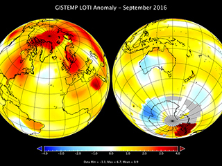 September was warmest on record by narrow margin