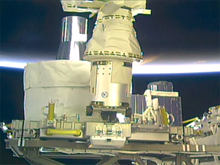 SAGE III installed on its new home on the International Space Station