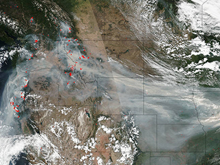 Wildfire smoke crosses U.S. on the jet stream